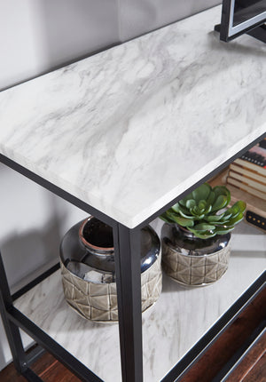 Faux Carrara Marble Media Stand