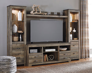 Trish Media Wall Unit with Optional Fireplace Insert