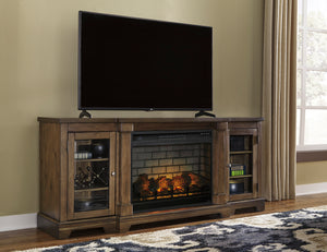 Florence Media Stand with Optional Fireplace Insert