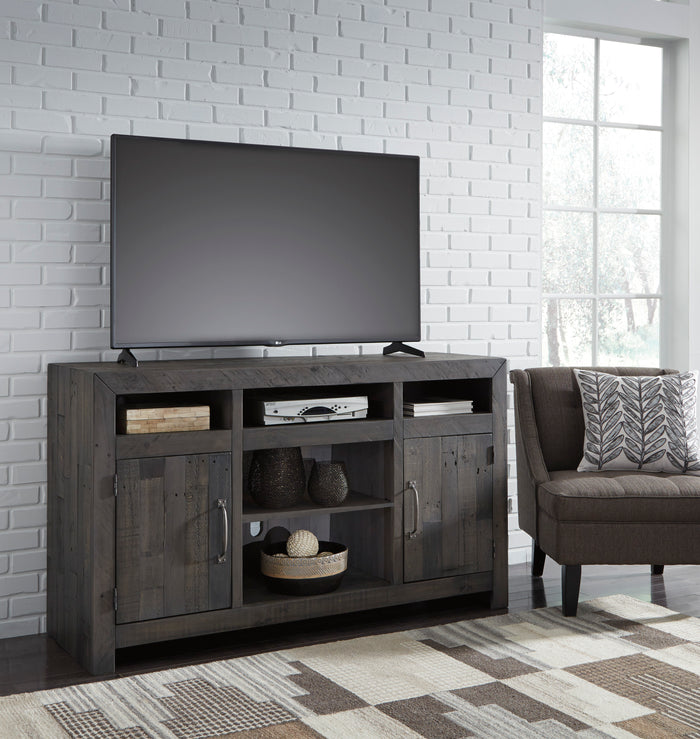 Urban Farmhouse Media Stand with Optional Fireplace Insert