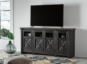 Tyrese Rustic Dual Tone Media Stand