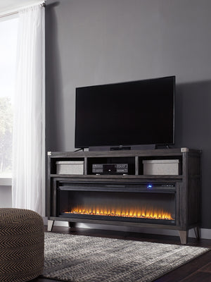 Toby Media Stand with Optional Fireplace Insert