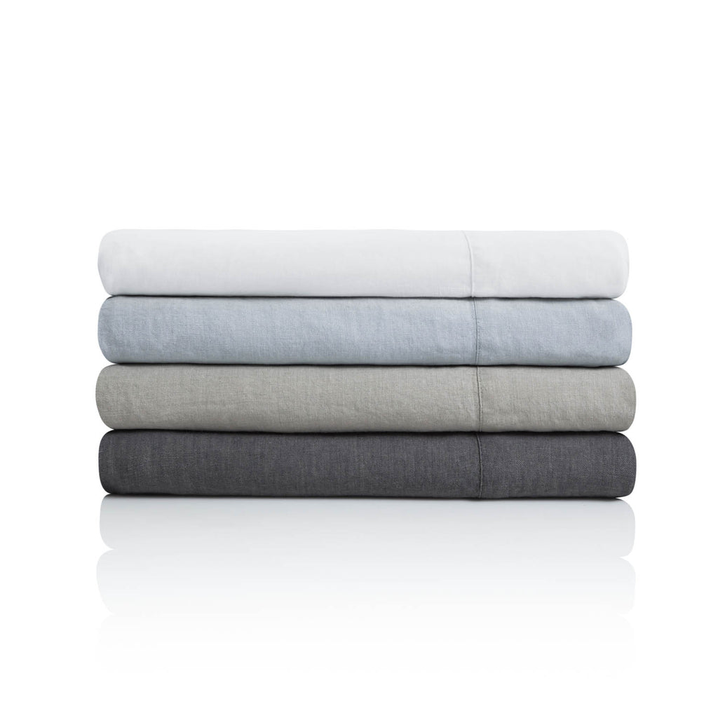 French Linen Duvet Cover Set in 4 Color Options