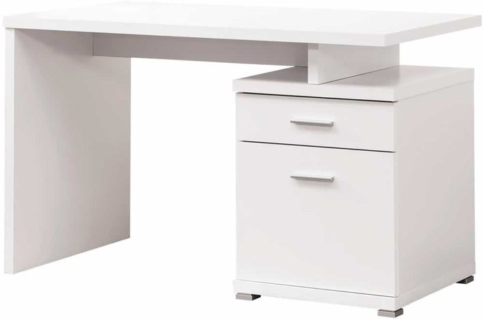 Domicile Contemporary Home Office Desk in White or Cappuccino