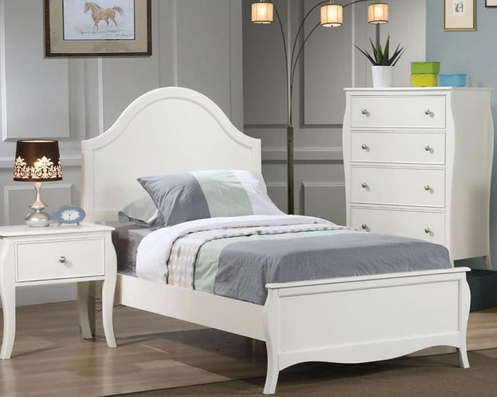 Dominique White Teen Bedroom COllection