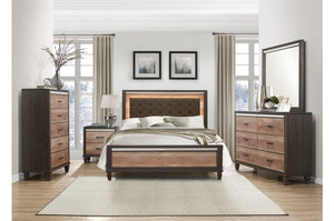 Dan Dual Tone Bedroom Collection with LED Lighting