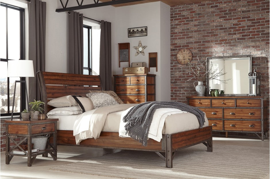 Alverson Industrial Platform Bedroom Collection