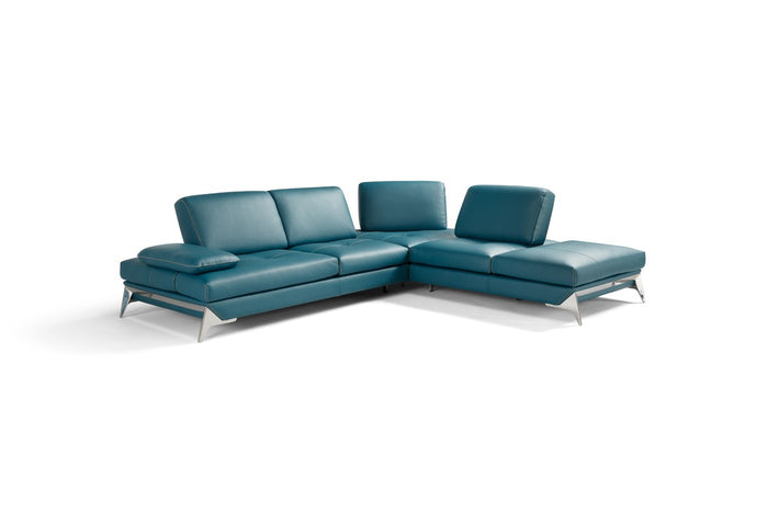 Andre Full Leather Sectional in 3 Color Options