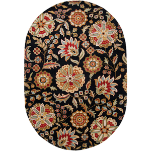Ernie Oval Area Rug in 5 Colors & 2 Sizes