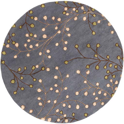 Enrique Round Area Rug in 9 Colors & 4 Sizes