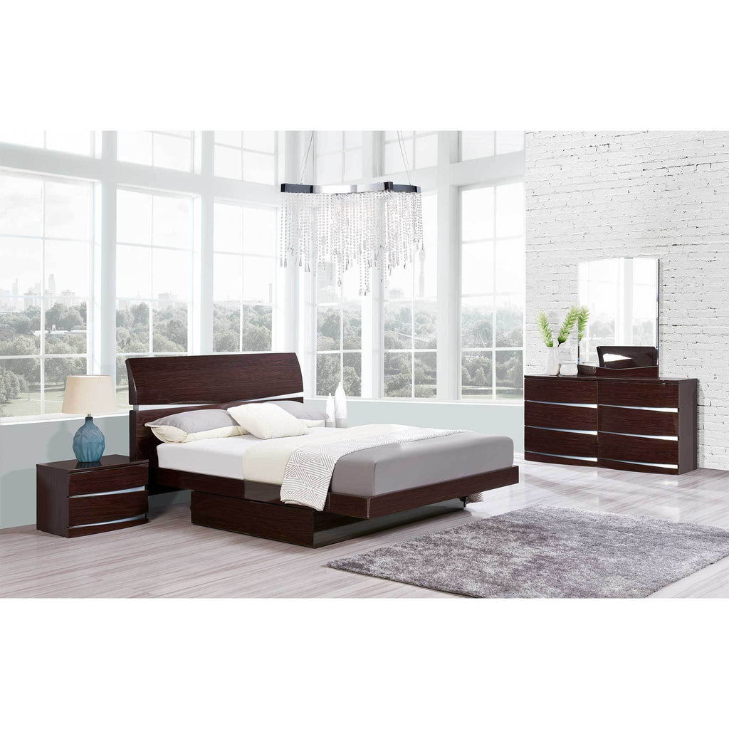 Julian Storage Platform Bedroom Collection in Wenge or White