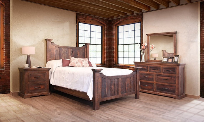 Madrid Solid Wood Rustic Bedroom Collection