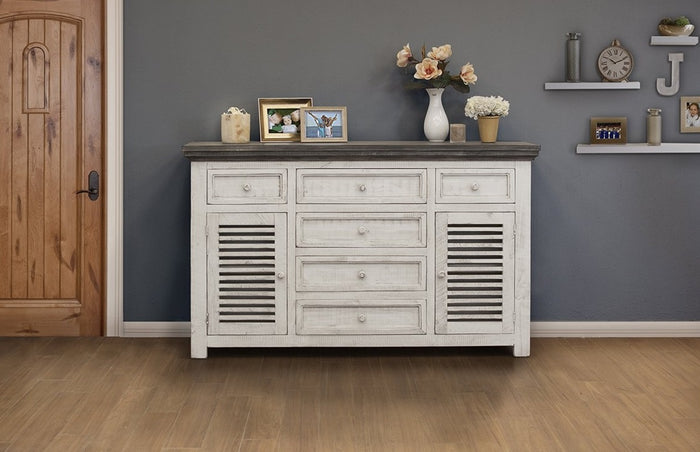Solid Wood Rustic Dual Tone Buffet