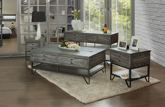 Mara Grey Rustic Occasional Collection