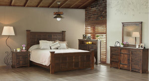 Meza Rustic Solid Wood Bedroom Collection