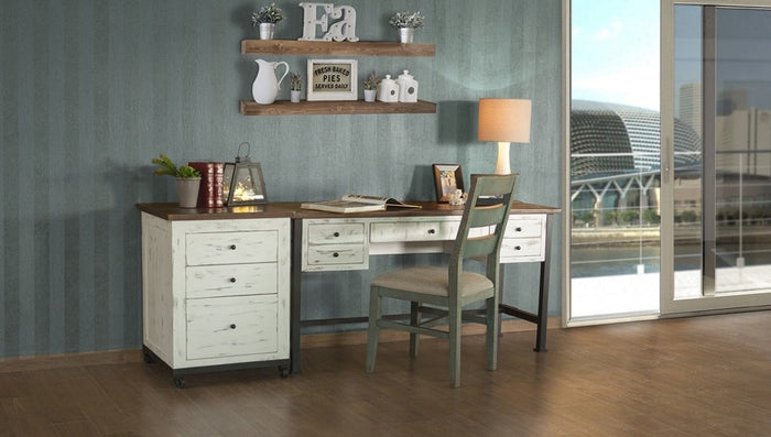 Rustic Dual Tone Solid Wood Desk