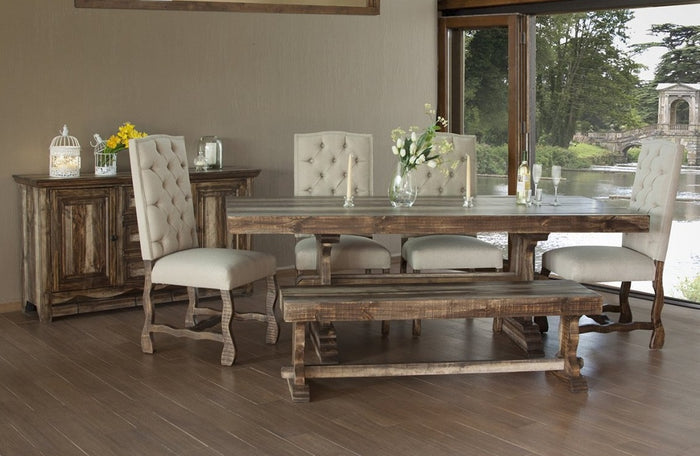 Mark Dual Tone Dining Room Collection with Tufted Chairs