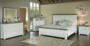 Lola Rustic White Dual Tone Bedroom Collection