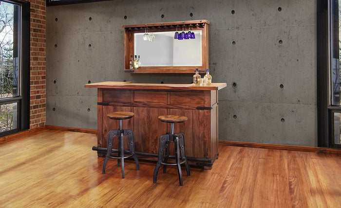 Industrial Solid Wood Bar Unit