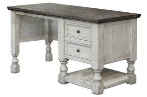 Rustic Dual Tone Solid Wood Tall Desk