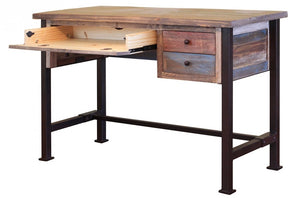 "Multi-color Rustic 48"" Writing Desk"