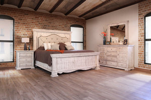 Ella Vintage White Solid Wood Bedroom Collection