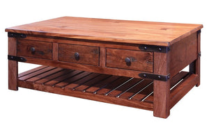 Rustic Solid Parota Wood Occasional Collection