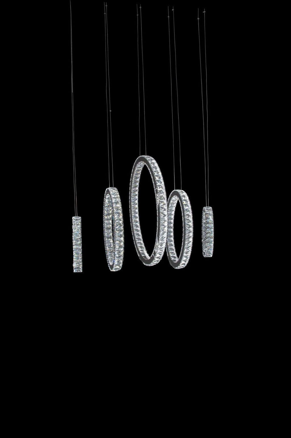 Solar Hoops LED Chandelier in 2 Sizes