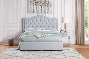 Todd Upholstered Platform Bed with Optional Footboard Storage