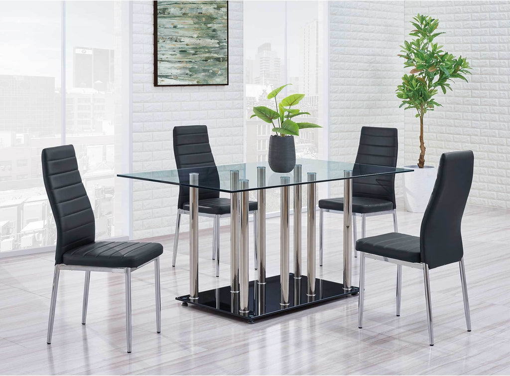 Becky Modern Glass Top Dining Room Collection