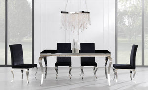 Nelly Transitional Black DIning Room COllection