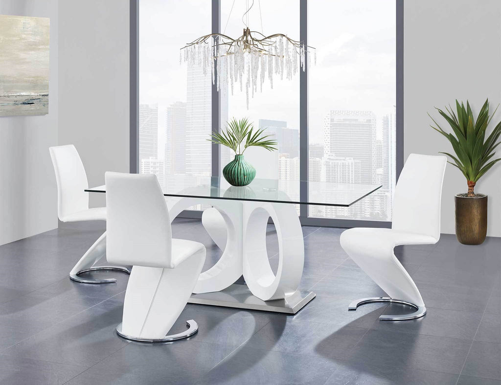 Olivia White Dining Room Collection