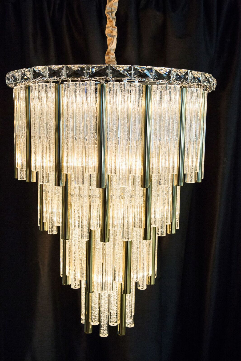 Chimes Gold Chandelier in 3 Sizes