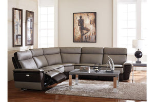 Louie Dual Tone Power Reclining Modular Sectional