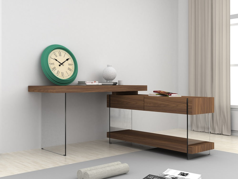 Claudia Modern Office Desk in 2 Color Options