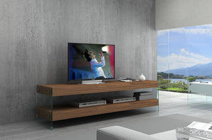 Claudia TV Stand in White or Walnut and in 2 Sizes