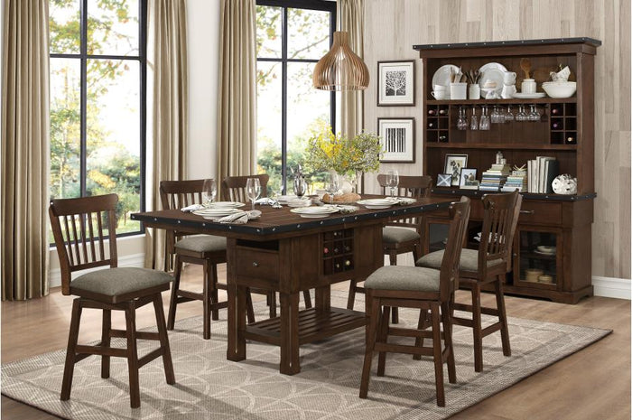 Sequoia Counter Height Dining Room Collection with Optional Bench