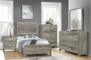 Manila Rustic Bedroom Collection in Weathered Grey