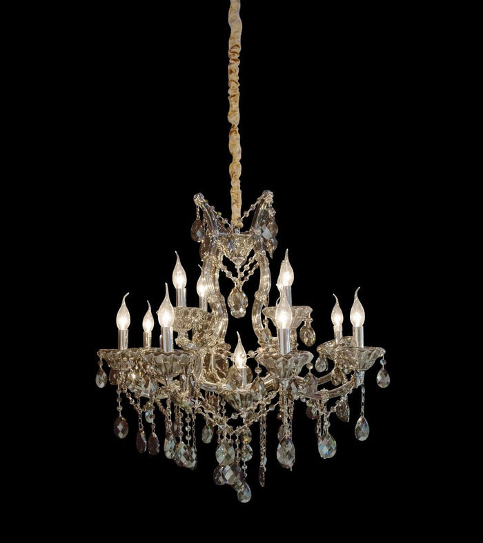 Vitoria Smoke Chandelier in 3 Sizes