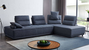 Glenda Modern Fabric Sectional in 3 Color Options