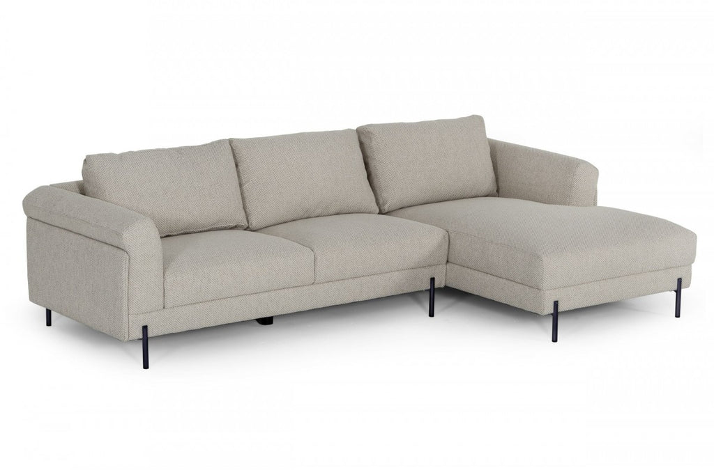 Halo Modern Beige Fabric Sectional