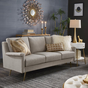 Mid Century Modern Grey Fabric Living Room Collection