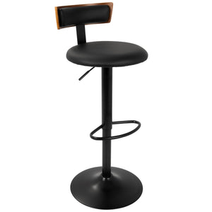 Weldon Adjustable Leatherette Barstool
