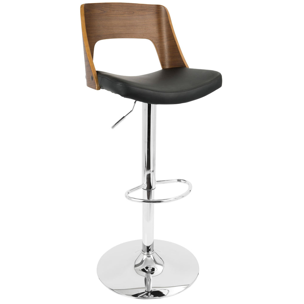 Lena Adjustable Barstool in Black or Cream