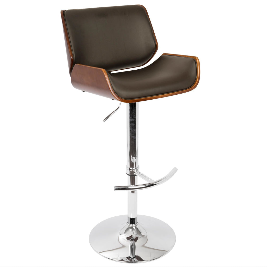 Santos Adjustable Barstool in Brown, Cream or Grey
