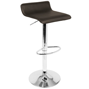 Alessia Backless Adjustable Barstool in 4 Color Options