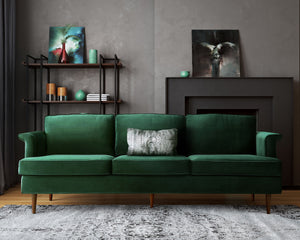 Mid Century Velvet Sofa in 3 Color Options