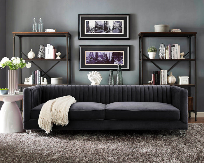Ava Channel Tufted Sofa in 3 Color Options