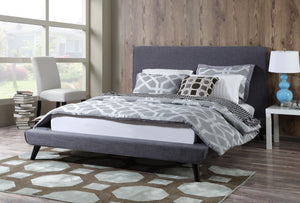Nikon Linen Platform Bed in Beige or Grey