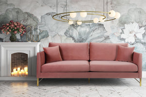 Maisie Velvet Sofa in Rose or Grey